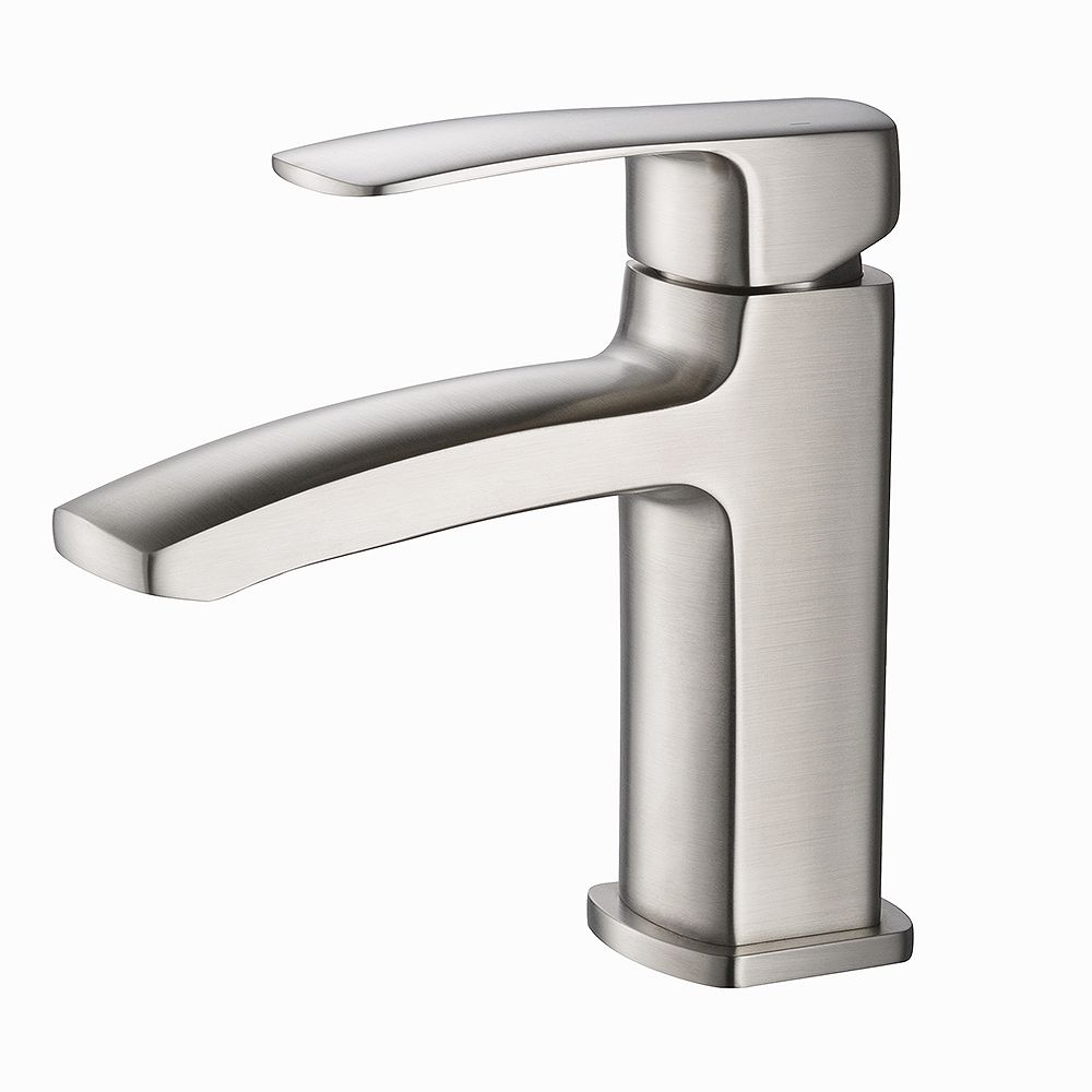 Fresca Fiora Single Hole Single-Handle Low-Arc Bathroom Faucet in Brushed Nickel