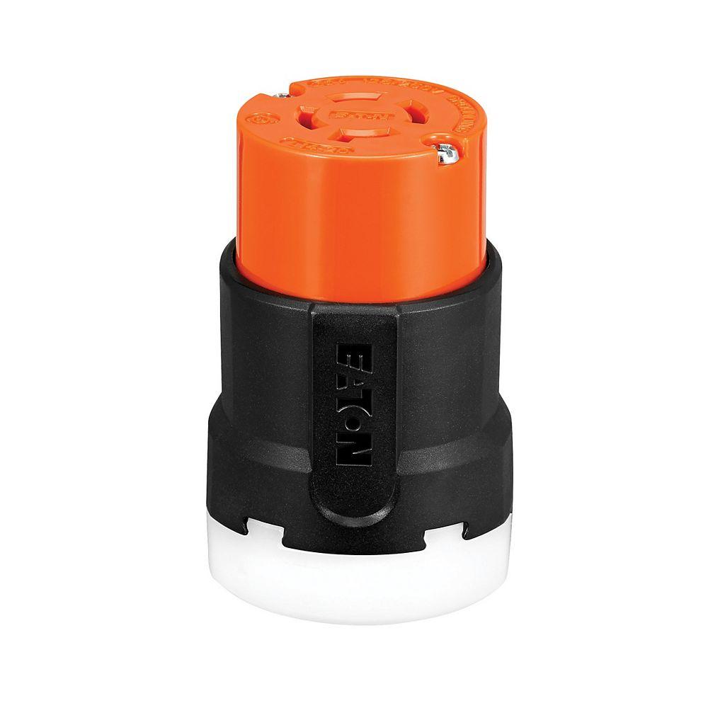 Eaton Color Coded Locking Connector 20a 125_250v 3p4w Orange_Black