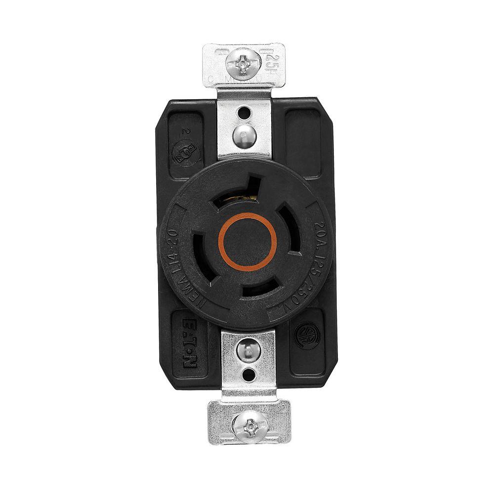 Eaton Color Coded Locking Receptacle 20a 125_250v 3p4w Orange_Black