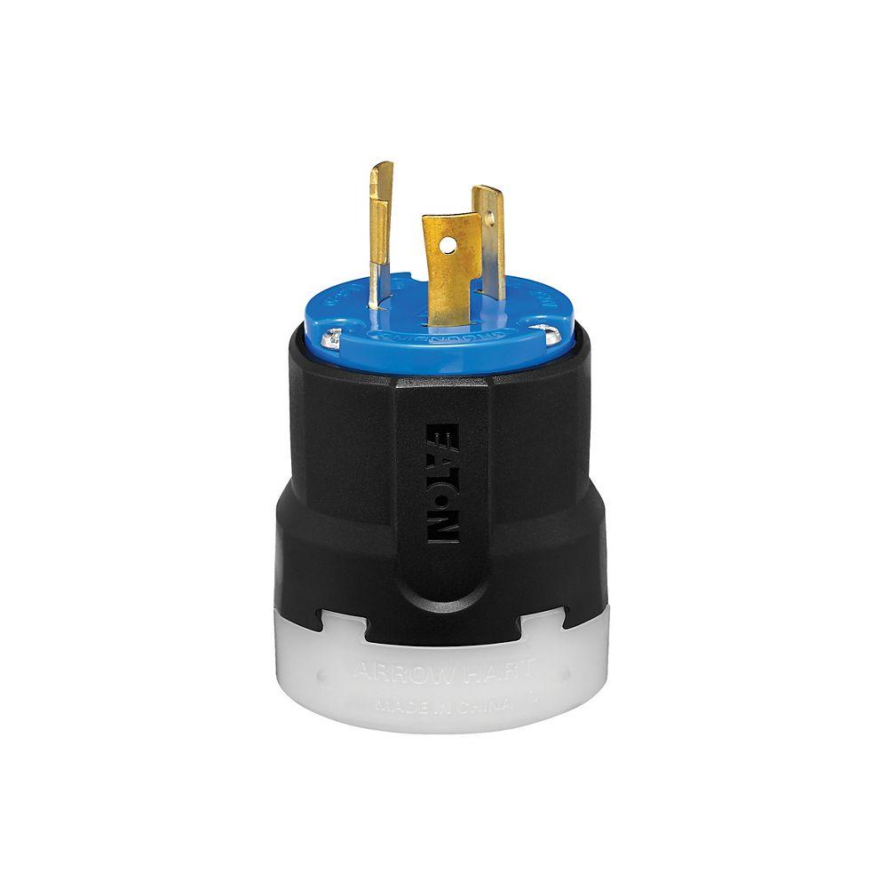 Eaton Color Coded Locking  Plug 20a 250v 2p3w Blue_black