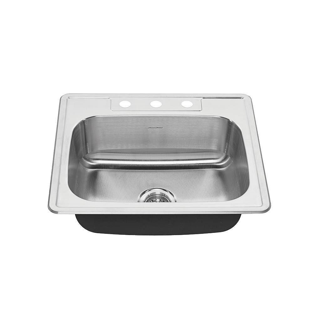 American Standard Colony 25x22 Top Mount Double Bowl Kitchen Sink