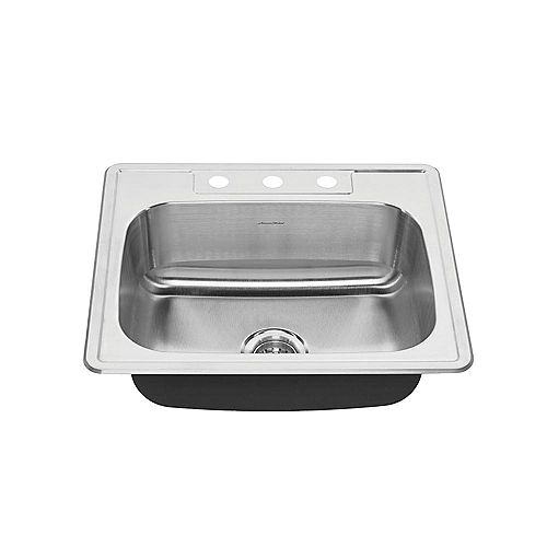 Colony 25x22 Top Mount Double Bowl Kitchen Sink