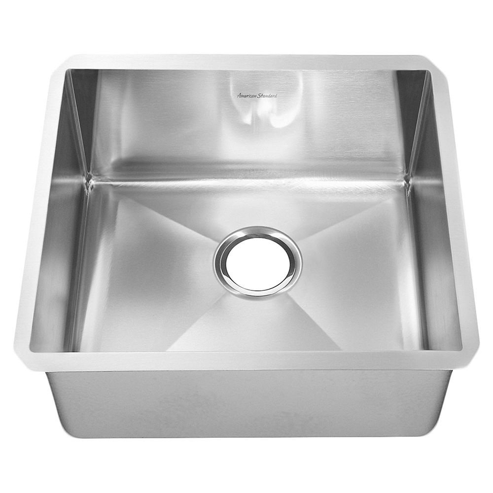 American Standard Pekoe 23X18 Single Bowl Stainless Steel Kitchen Sink