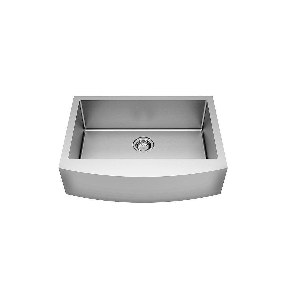 American Standard Pekoe 30X22 Apron Front Single Bowl Stainless Steel Kitchen Sink
