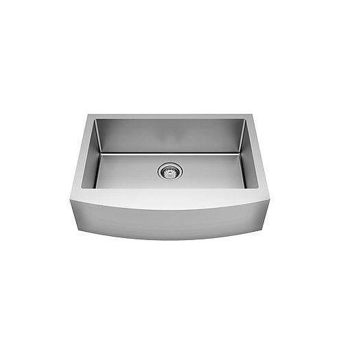 Pekoe 30X22 Apron Front Single Bowl Stainless Steel Kitchen Sink