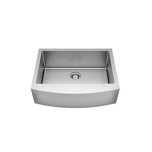 Pekoe 33X22 Apron Single Bowl Stainless Steel Kitchen Sink