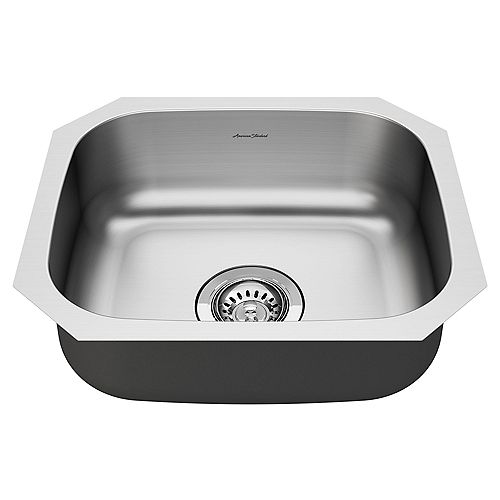 Portsmouth 18x16-inch ADA Single Bowl Stainless Steel Kitchen Sink