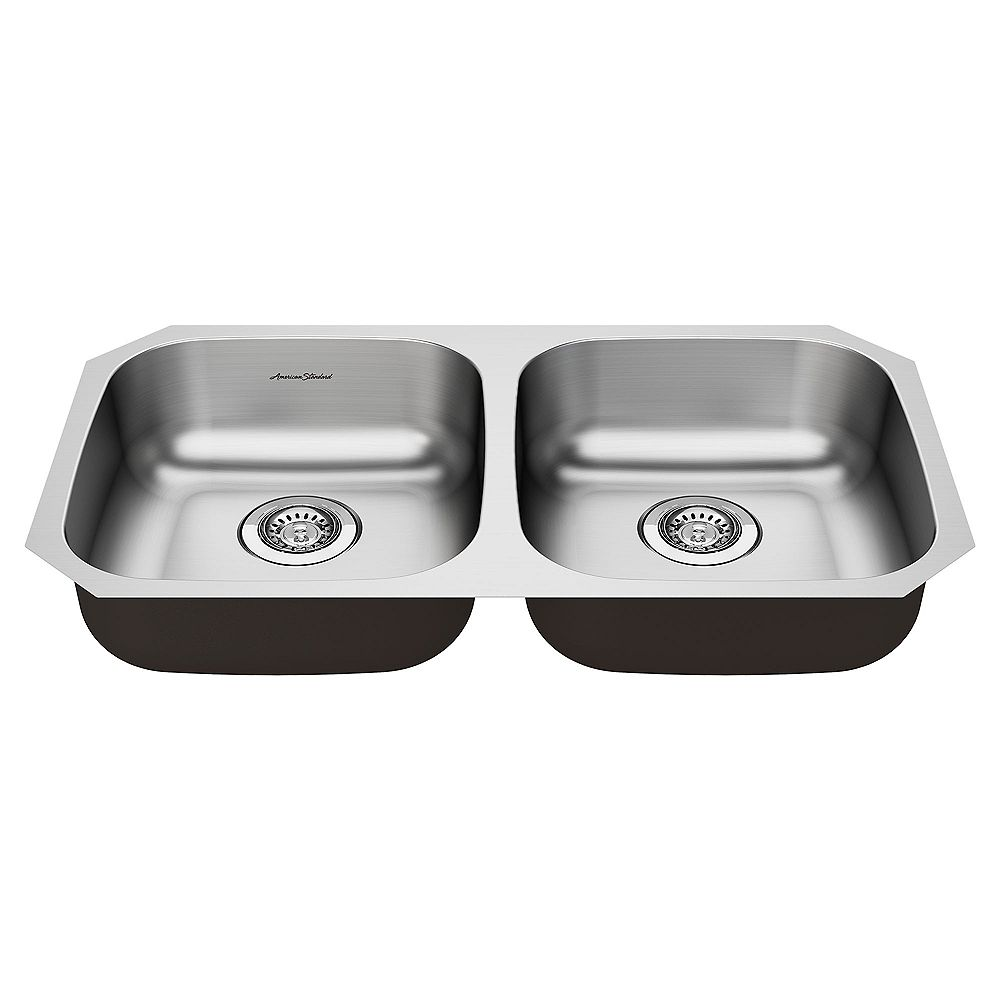 American Standard Portsmouth 31x18-inch ADA Double Bowl Stainless Steel Kitchen Sink