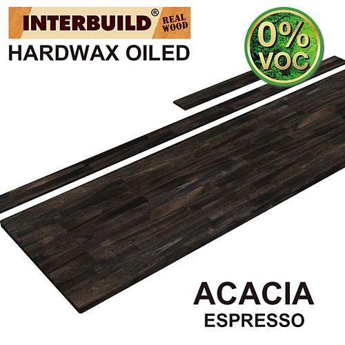 85 x 24 x 1 Acacia Vanity Top with Backsplash, Espresso