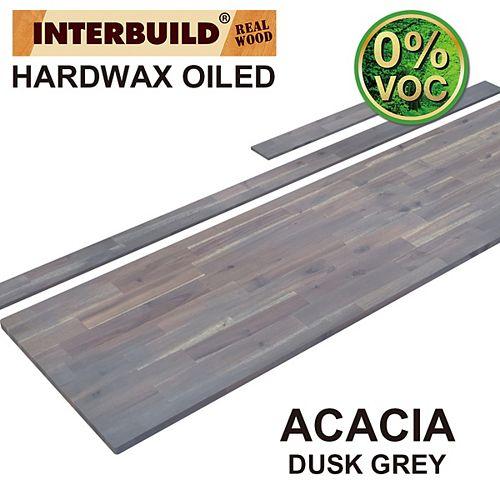 85 x 24 x 1 Acacia Vanity Top with Backsplash, Dusk Grey