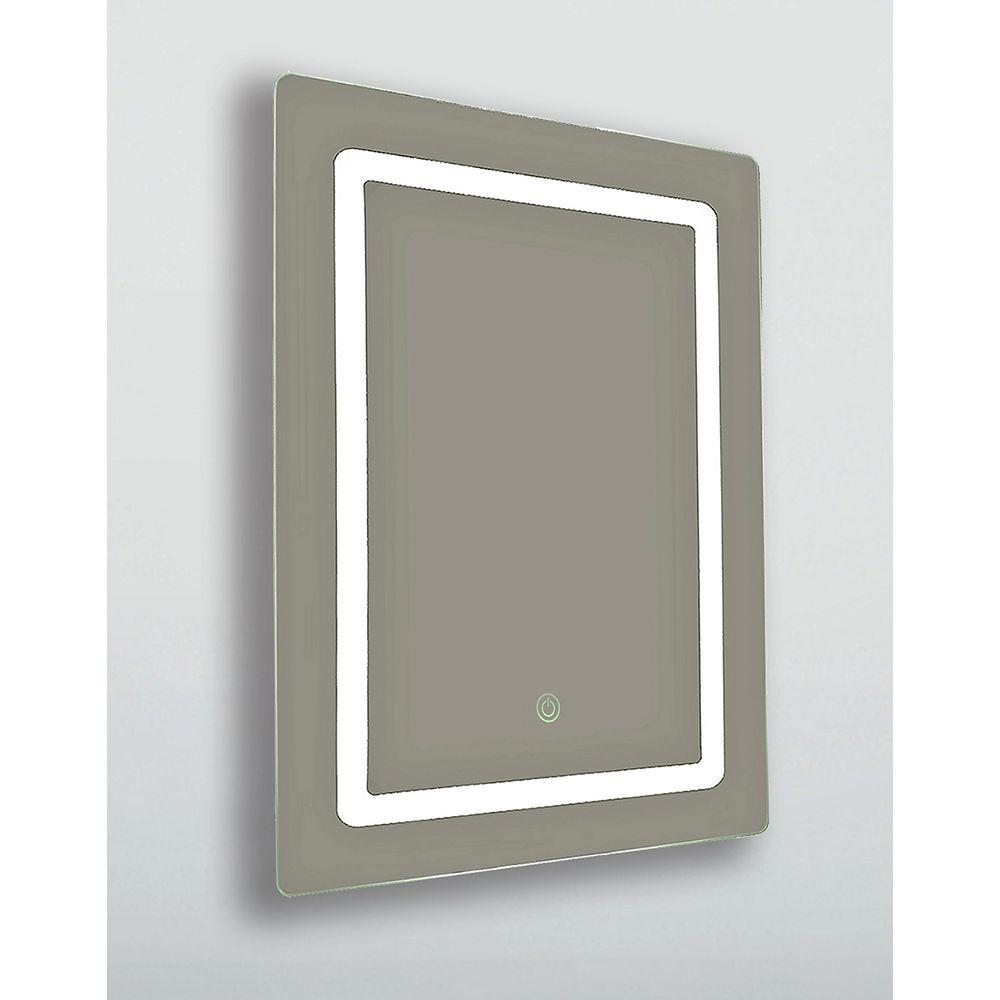 "The Tangerine Mirror Company Madison, LED Vanity Mirror, Battery Operated 24"" x 36"""