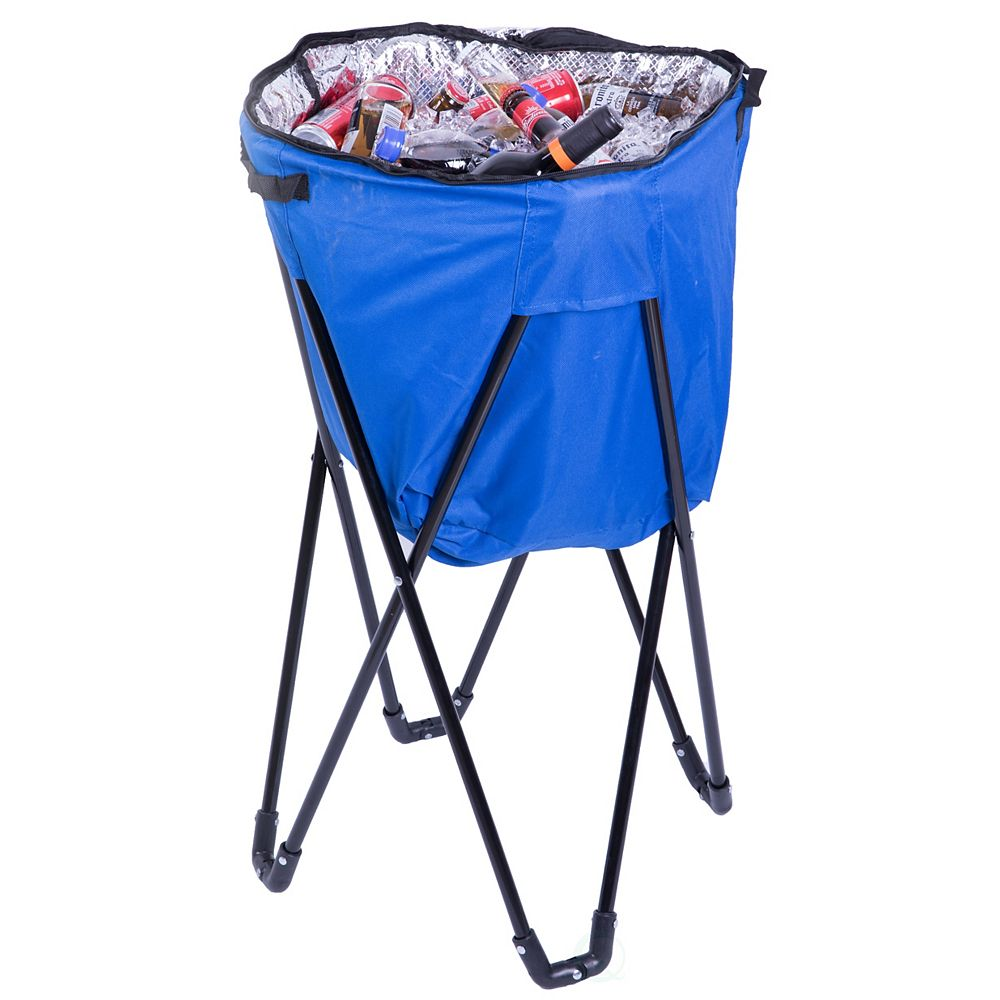 PLAYBERG Folding Camping Outdoor Cooler Bag, Blue