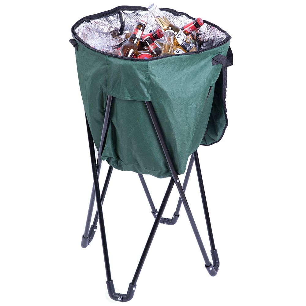 PLAYBERG Folding Camping Outdoor Cooler Bag, Green