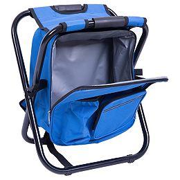 Pliage 3 en 1 Tabouret / Sac à dos / refroidisseur sac, Bleu