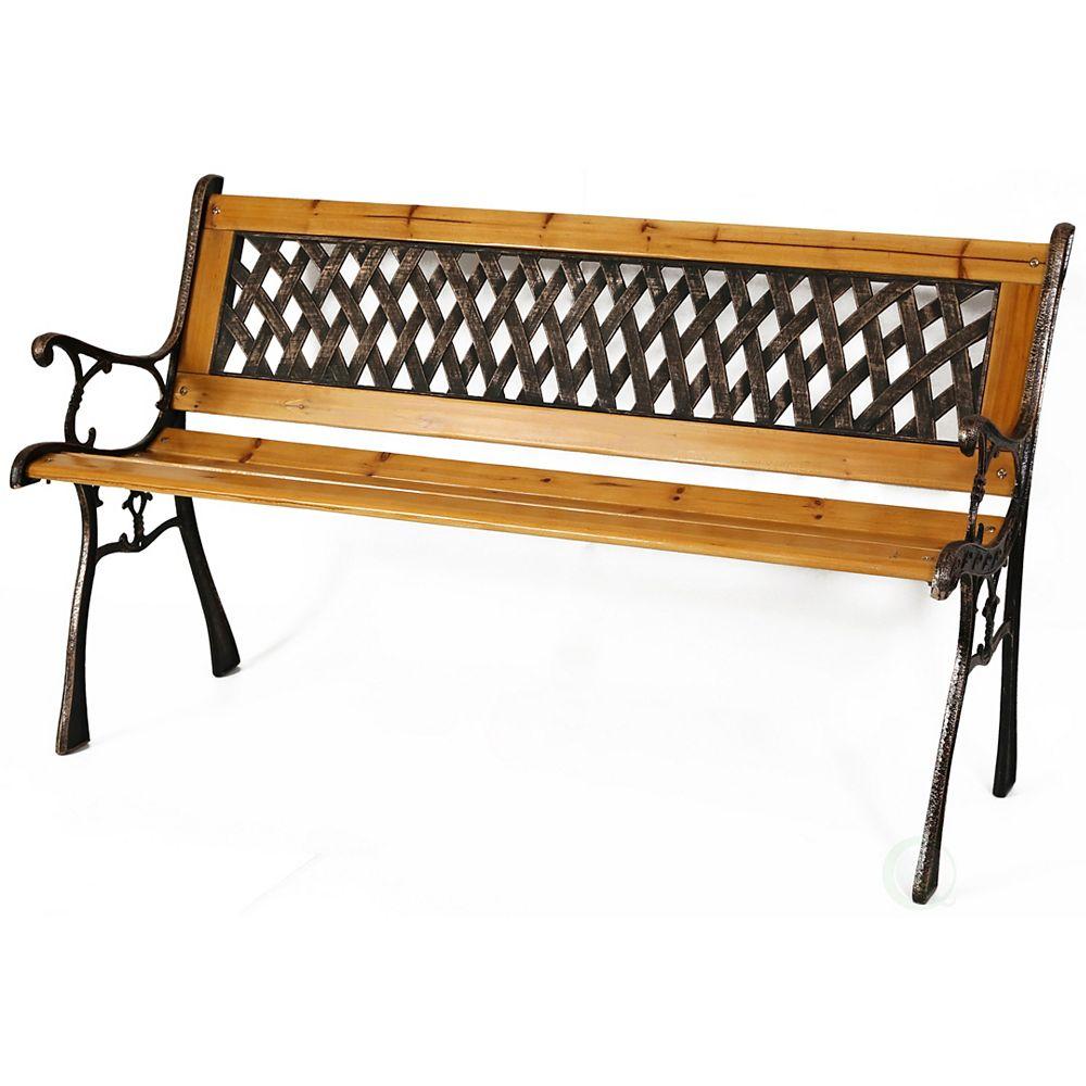 "Gardenised Patio Garden Park Yard 49"" Outdoor Wooden Bench"