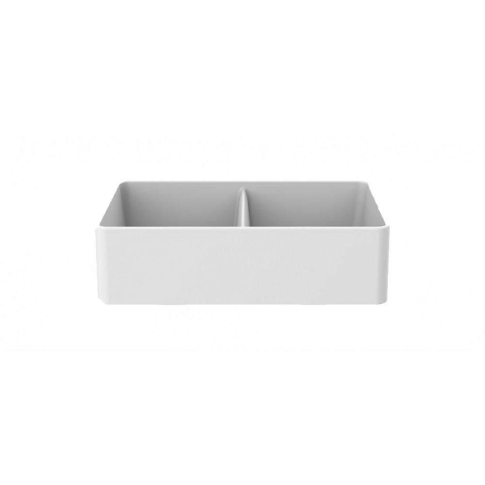American Imaginations 33-inch W Deck Mount White Granite Composite Kitchen Sink and 16 Gauge in White Color