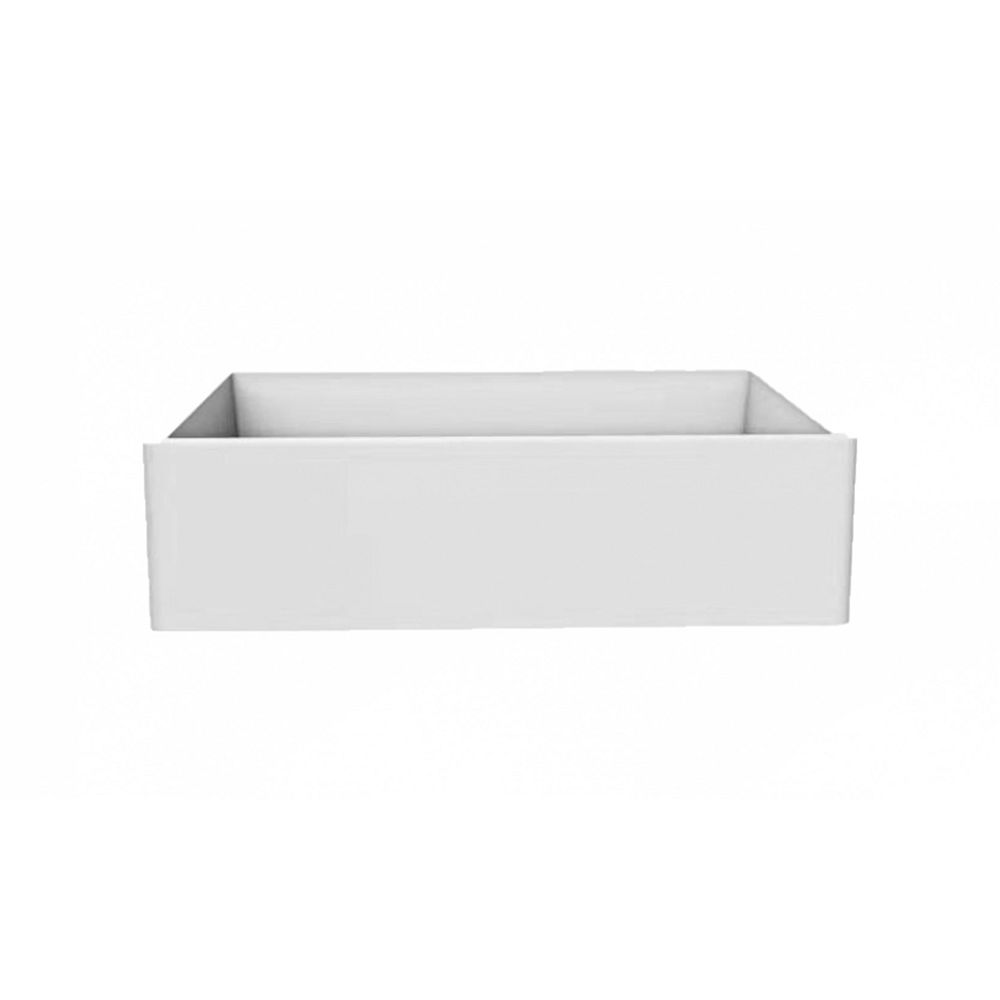American Imaginations 33-inch W Deck Mount White Granite Composite Kitchen Sink and 16 Gauge