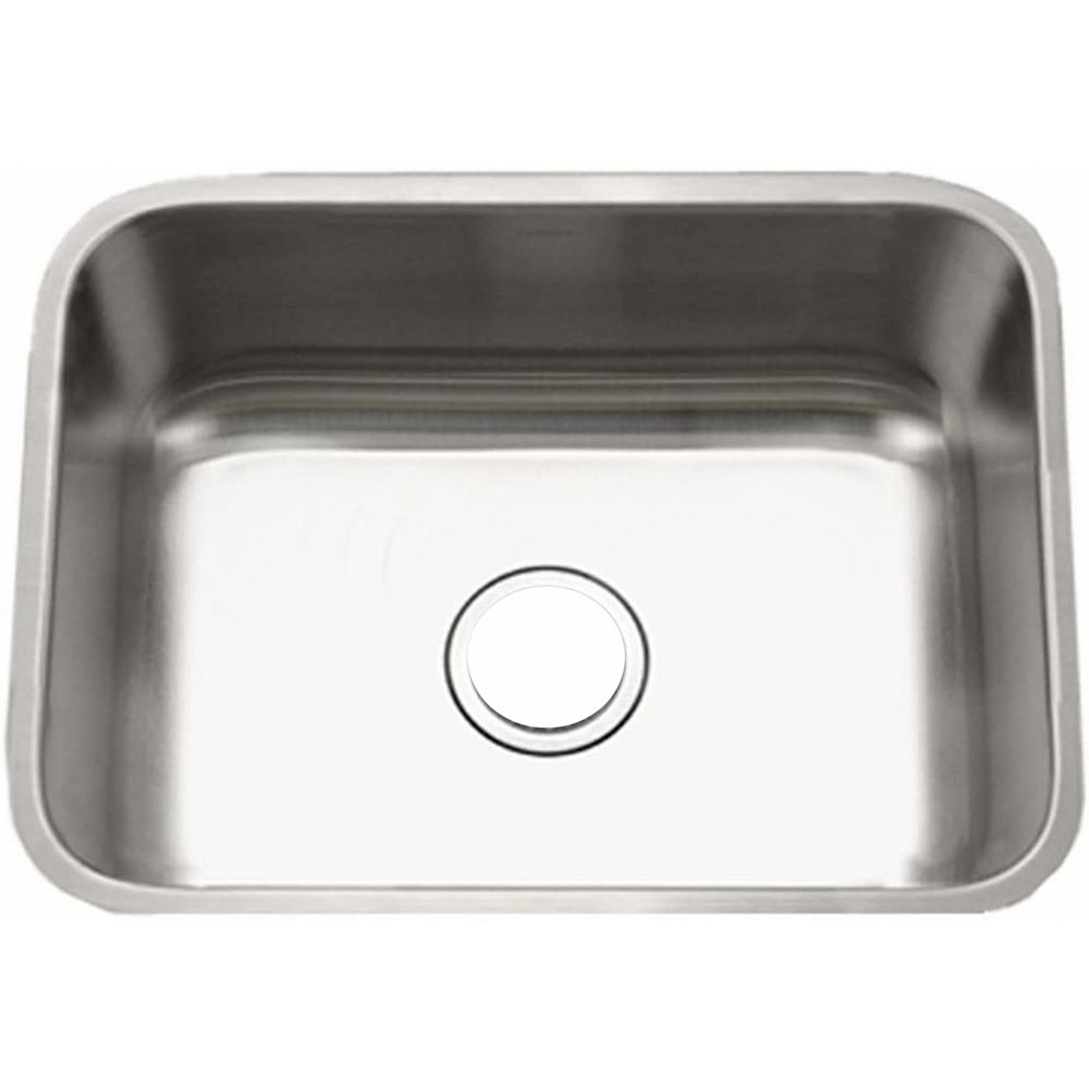 American Imaginations 27-inch W Wall Mount Brushed Nickel Kitchen Sink and 18 Gauge in Nickel Color