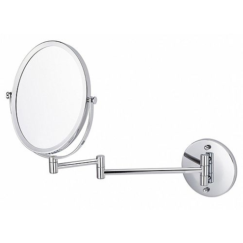 Oval 16.95-in x 13-in Wall-Mounted Magnifying Mirror in Brushed Nickel