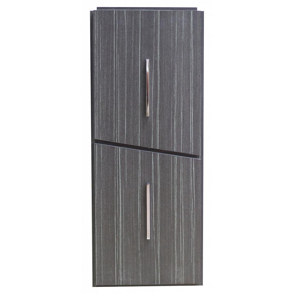 American Imaginations Zen 12-inch W 30-inch H Modern Plywood-Melamine Modular Drawer in Dawn Grey