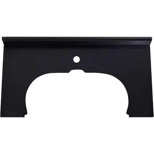 33-inch W 16.5-inch D Stone Top in Black Color for Deck Mount Faucet ( Transition )