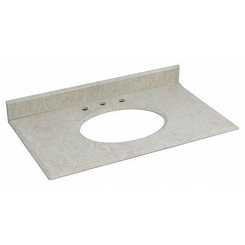 37.25-inch W 22.25-inch D Vanity Top in Beige