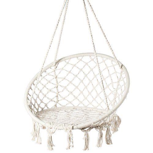 Trainerez hamac corde de coton macramé Balancelle pour intérieur et extérieur