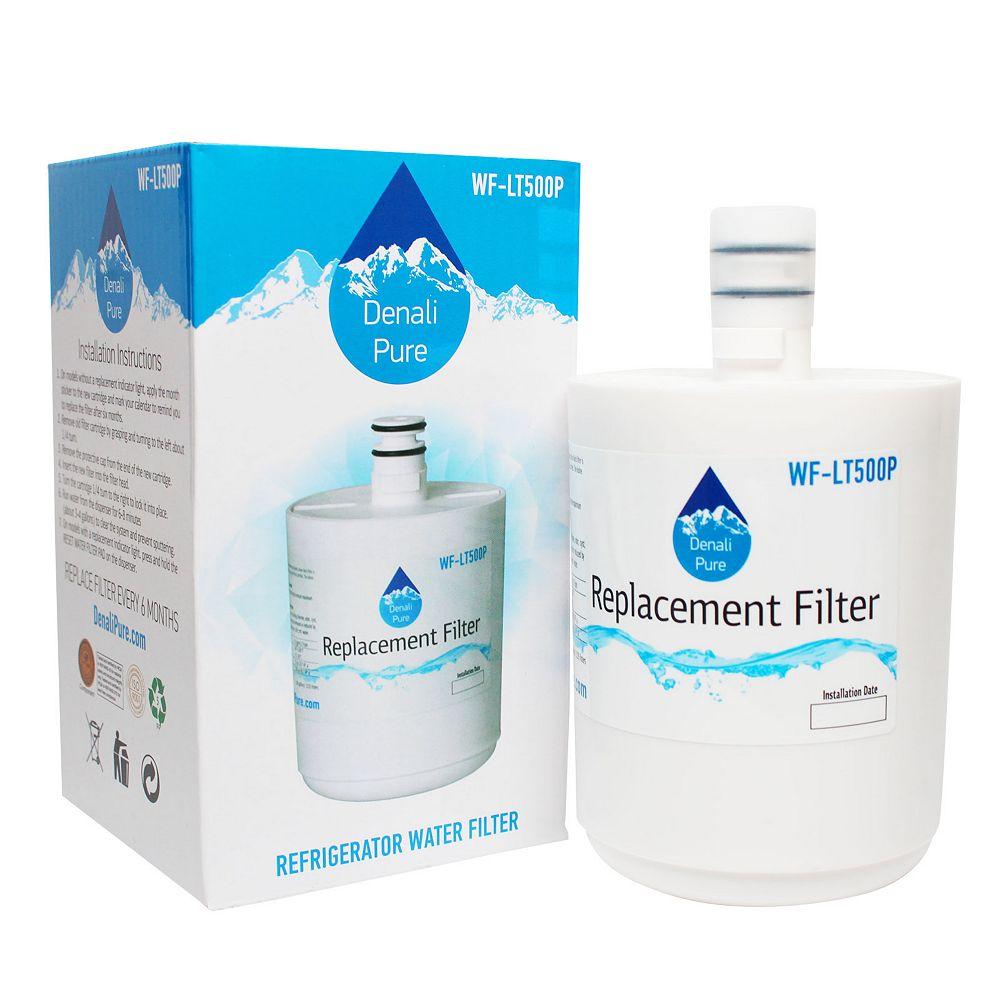 Denali Pure 3-Pack Compatible LT500P Water Filter Replacement for LG, Kenmore, Sears Refrigerators