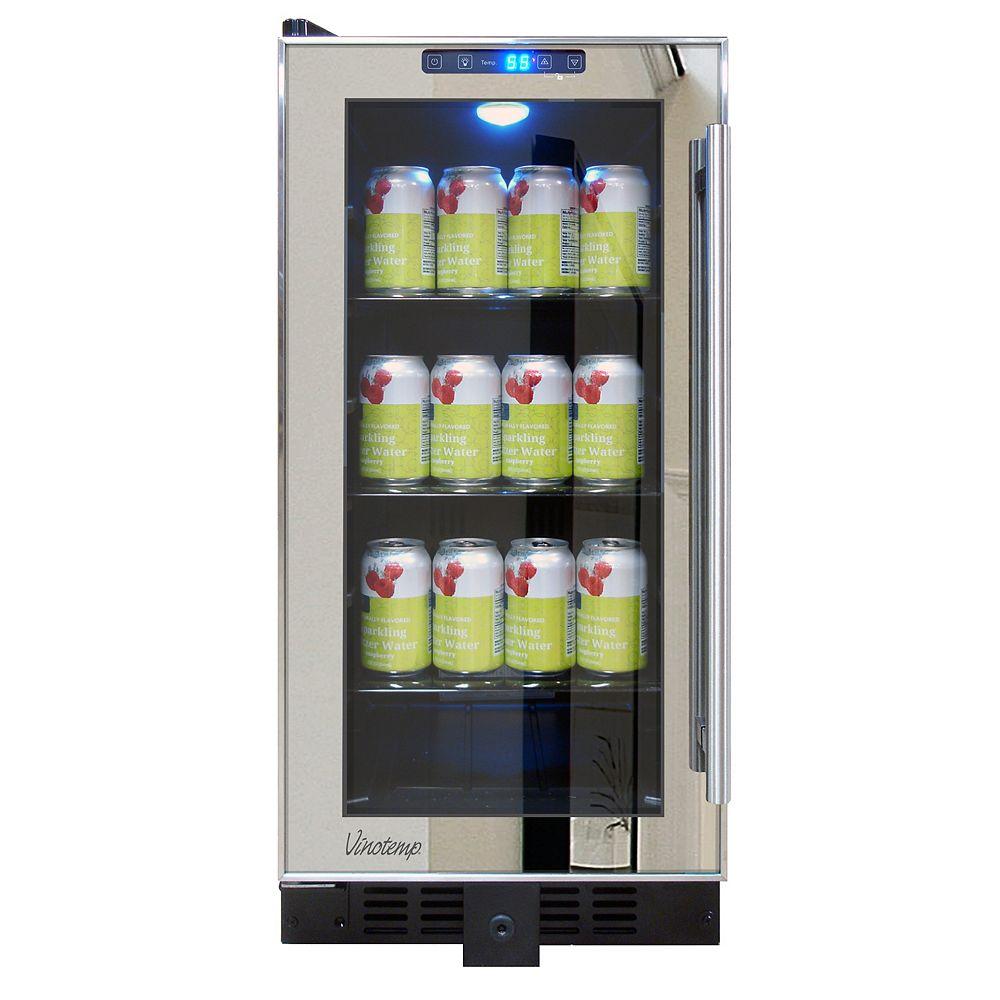 Vinotemp Mirrored Trim Beverage Cooler