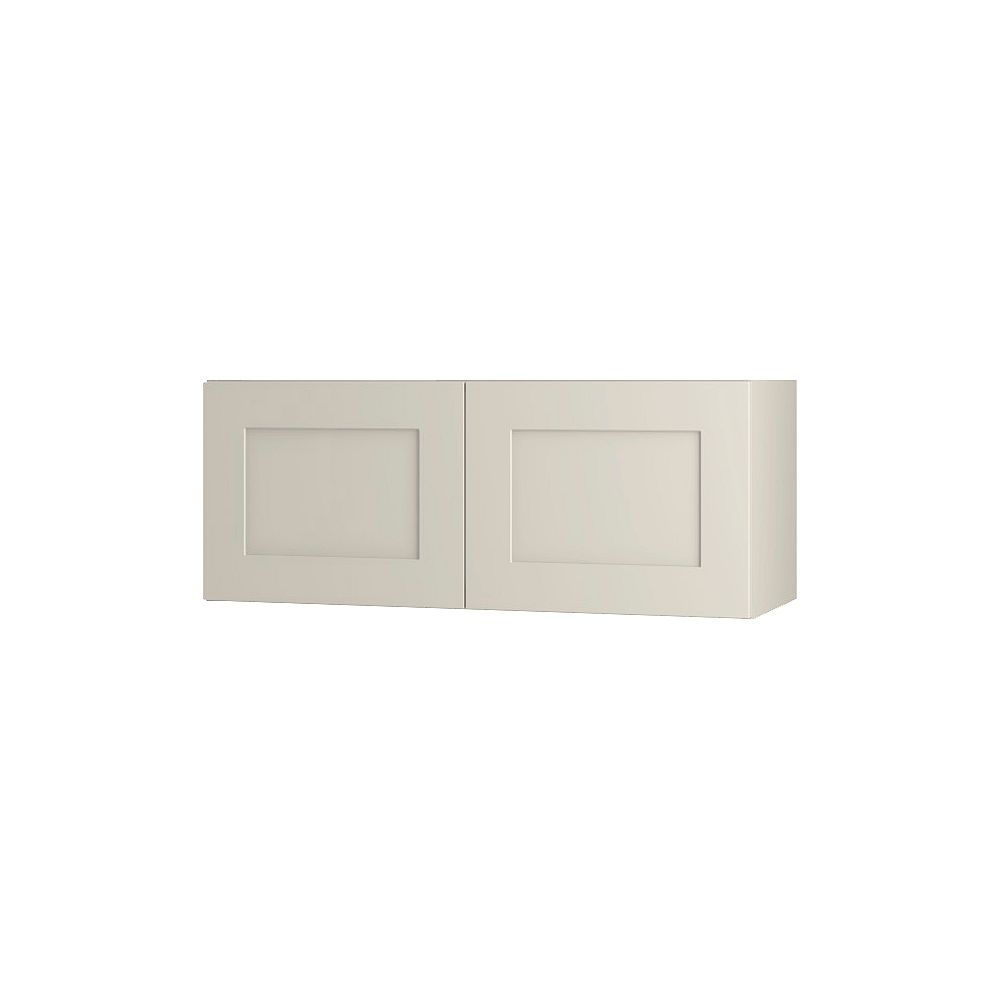Thomasville Nouveau NOUVEAU Rhett Mortar Assembled Wall Cabinet 30 inches Wide x 13.5 inches High