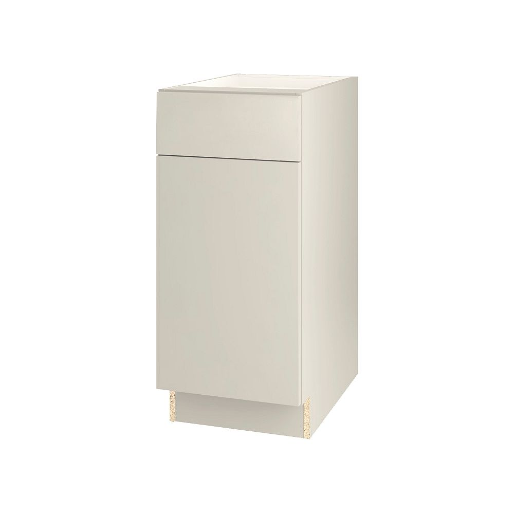 Thomasville NOUVEAU Cavette Mortar Assembled Base Cabinet with Drawer 15 inches Wide