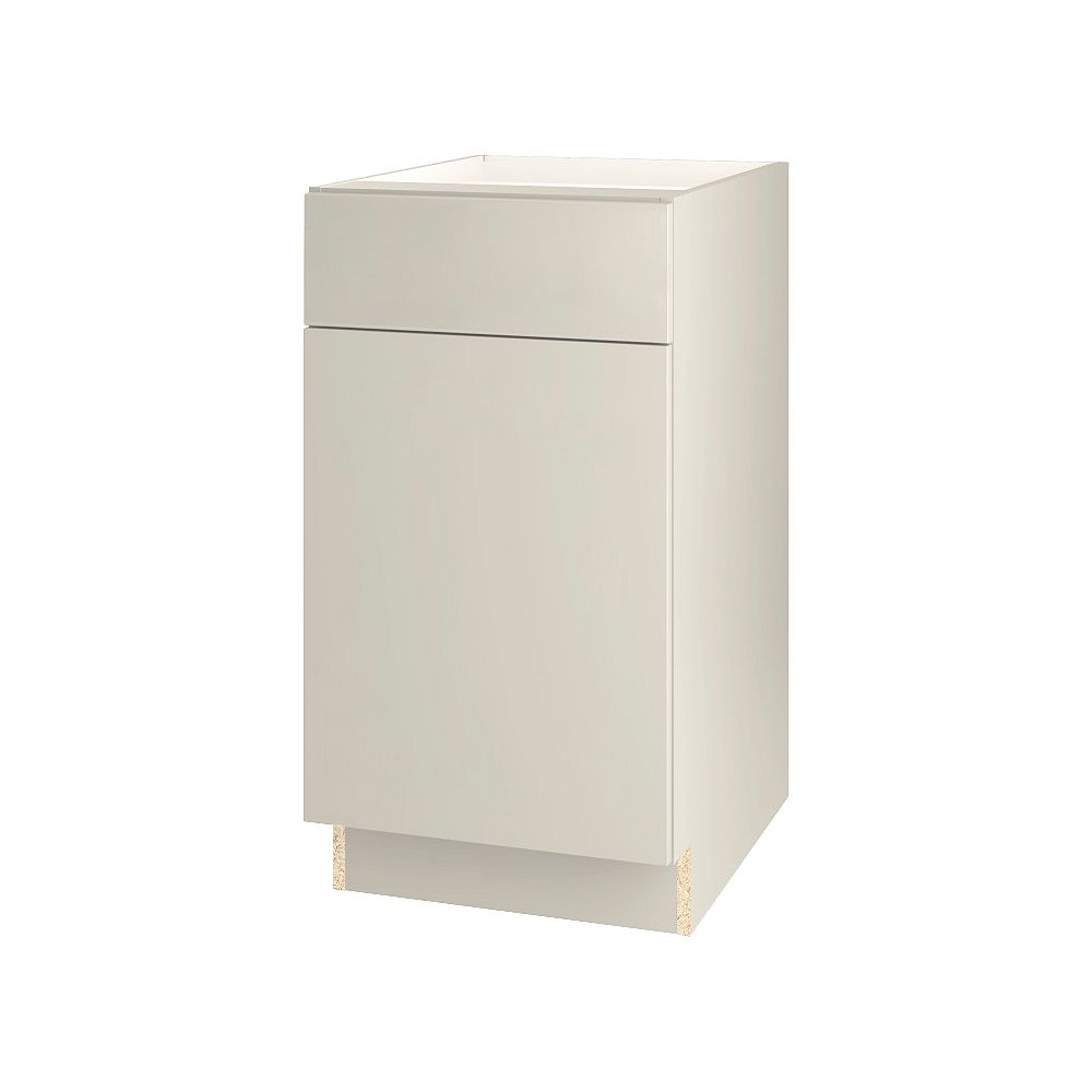 Thomasville Nouveau NOUVEAU Cavette Mortar Assembled Base Cabinet with Drawer 18 inches Wide