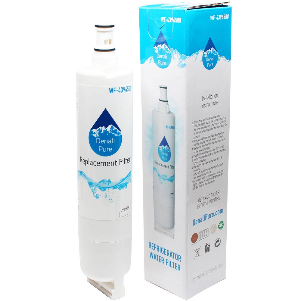 Denali Pure 6-Pack Compatible 4396508 Water Filter Replacement for Whirlpool, Maytag, KitchenAid Refrigerators