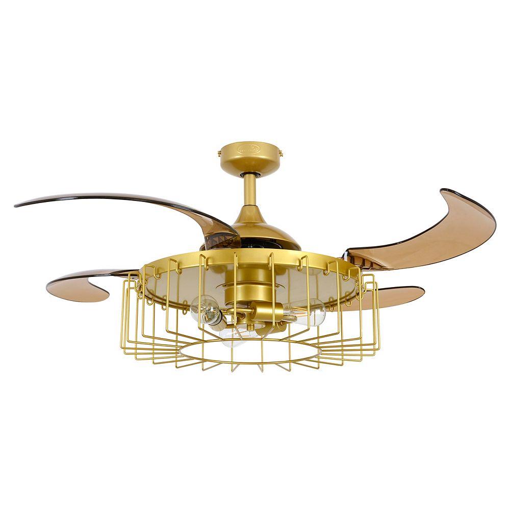 Fanaway Sheridan 48-inch Antique Gold Ceiling Fan with Light