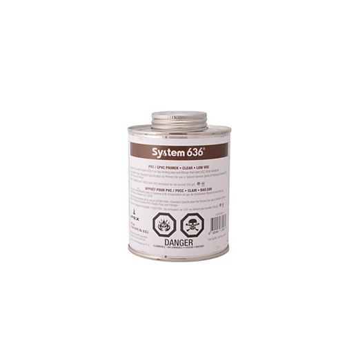 System 636 PVC/CPVC Clear Primer - 473ML