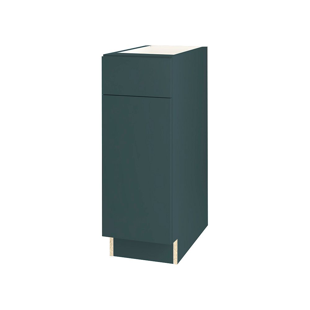 Thomasville NOUVEAU Cavette Lagoon Assembled Base Cabinet with Drawer 12 inches Wide