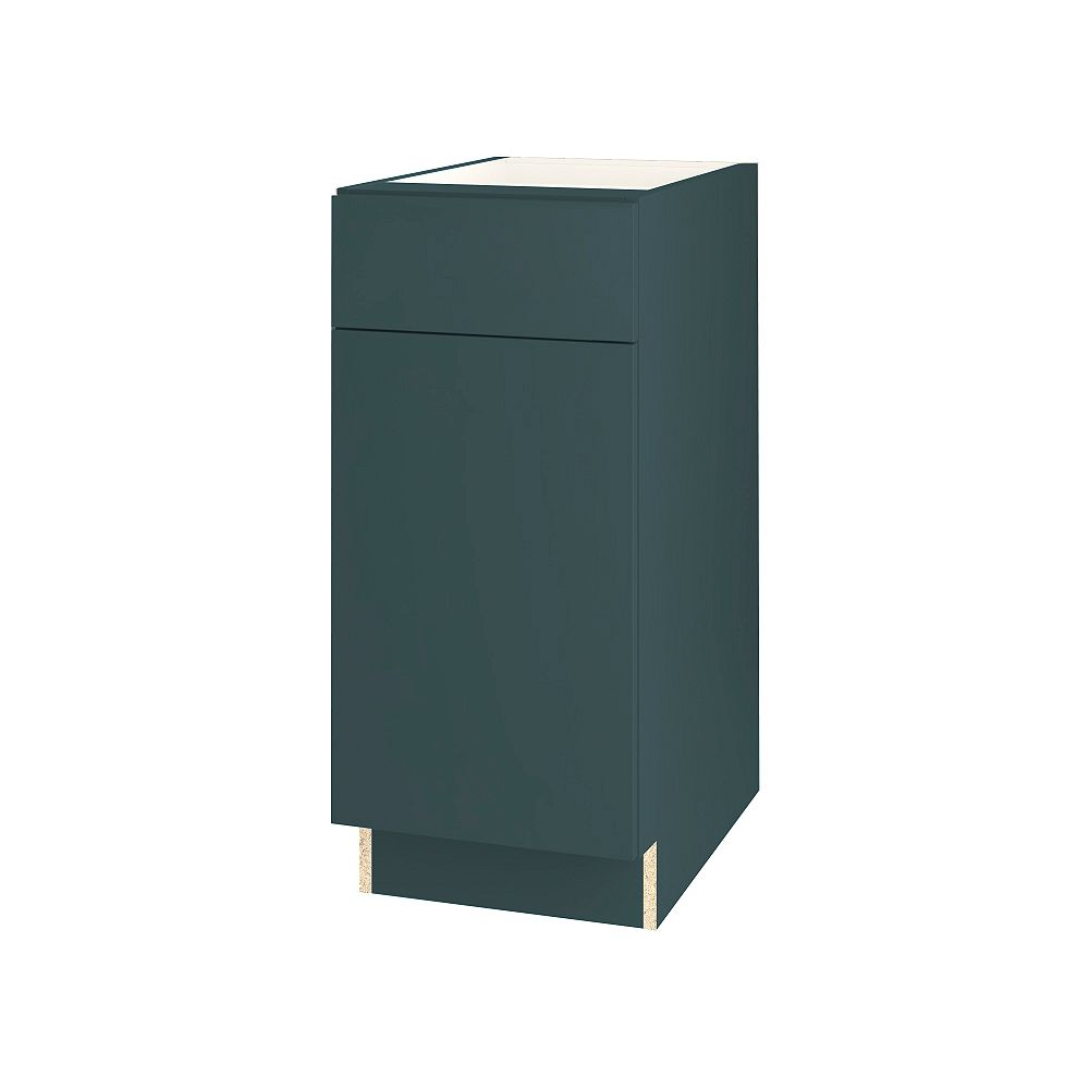 Thomasville NOUVEAU Cavette Lagoon Assembled Base Cabinet with Drawer 15 inches Wide