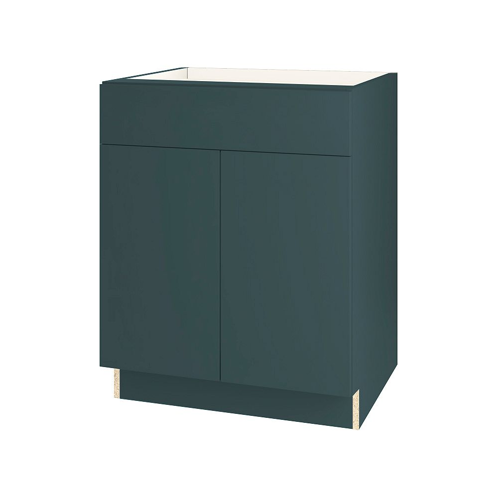 Thomasville NOUVEAU Cavette Lagoon Assembled Base Cabinet with Drawer 27 inches Wide
