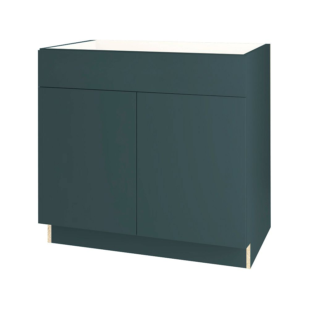 Thomasville Nouveau NOUVEAU Cavette Lagoon Assembled Base Cabinet with Drawer 36 inches Wide