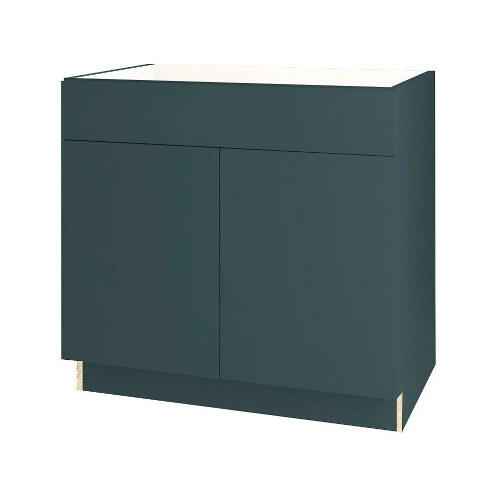 Thomasville NOUVEAU Cavette Lagoon Assembled Sink Base Cabinet 36 inches Wide