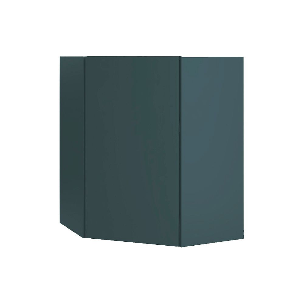 Thomasville NOUVEAU Cavette Lagoon Assembled Corner Wall Cabinet 24 inches Wide x 30 inches High