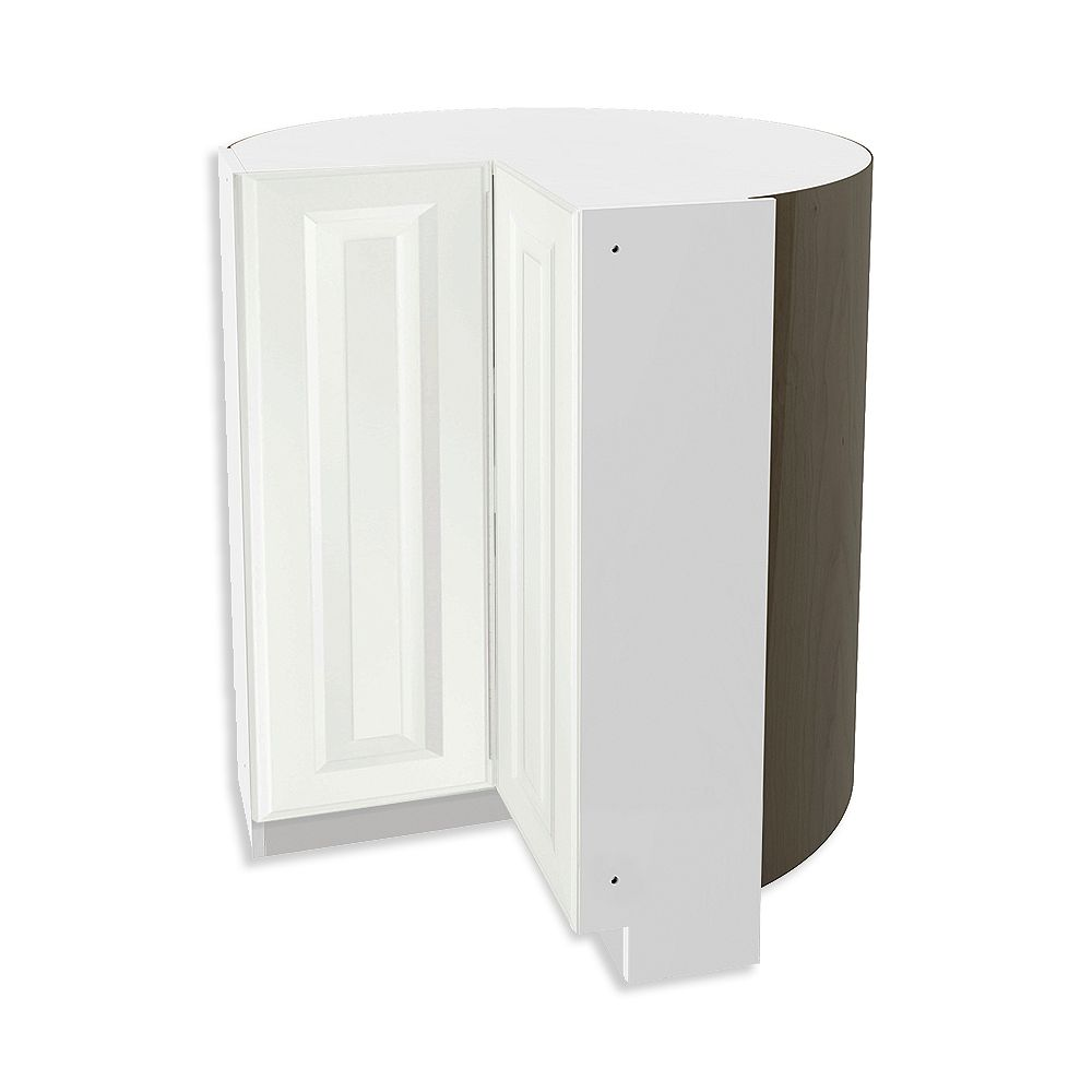 Thomasville NOUVEAU Newton Lilly Assembled Corner Base Cabinet with Lazy Susan 36 inches Wide
