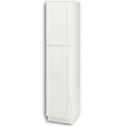 Newton 18-inch W x 84-inch H x 24-inch D Assembled Kitchen Pantry Cabinet/Cupboard in Lilly Solid White with Adjustable Shelves (T188424L)