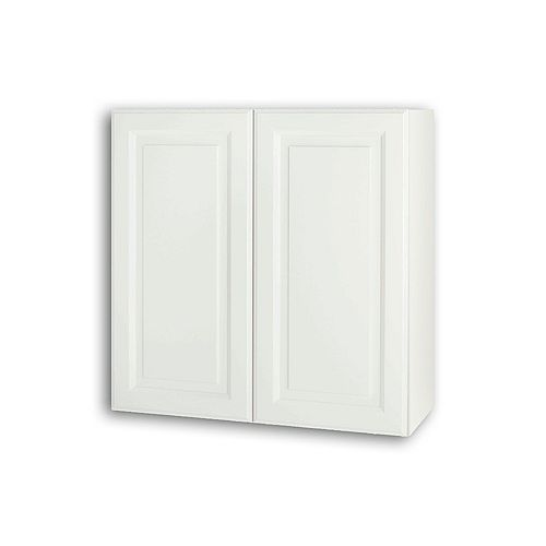 Newton 30-inch W x 30-inch H x 11.75-inch D Assembled Kitchen Wall Cabinet/Cupboard in Lilly Solid White with Adjustable Shelves (W3030)