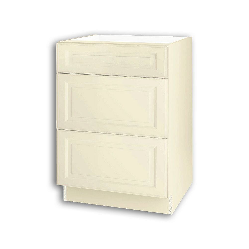 Thomasville NOUVEAU Newton Oleander Assembled Three Drawer Base Cabinet 24 inches Wide