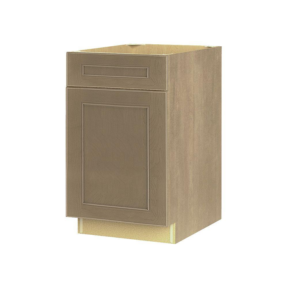 Thomasville Nouveau NOUVEAU Rhodes Pebble Assembled Base Cabinet with Drawer 21 inches Wide