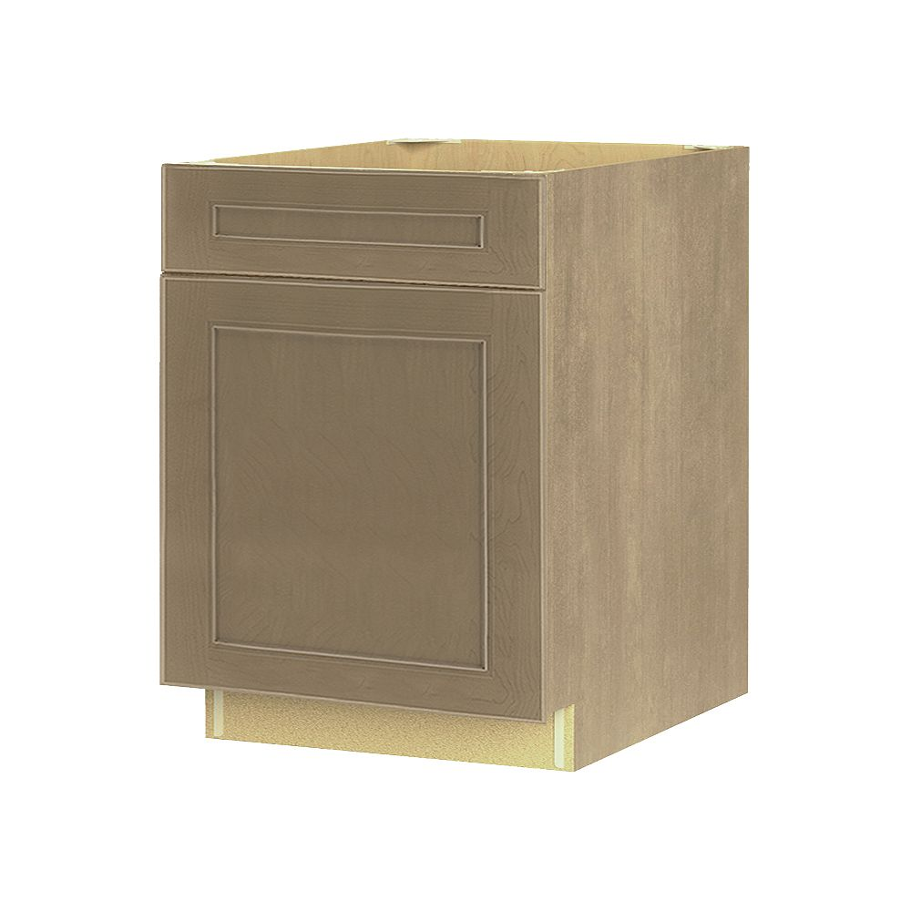 Thomasville NOUVEAU Rhodes Pebble Assembled Base Cabinet with Drawer 24 inches Wide