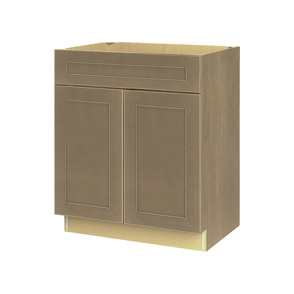 Thomasville NOUVEAU Rhodes Pebble Assembled Base Cabinet with Drawer 27 inches Wide