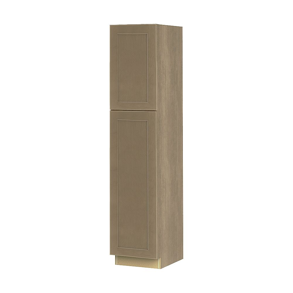 Thomasville NOUVEAU Rhodes Pebble Assembled Pantry Cabinet 18 inches Wide x 84 inches High