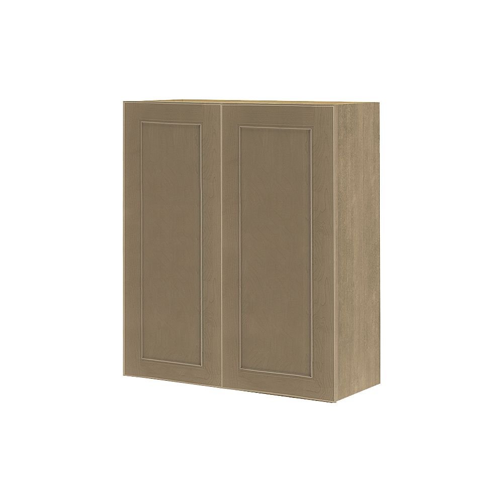 Thomasville NOUVEAU Rhodes Pebble Assembled Wall Cabinet 27 inches Wide x 30 inches High